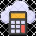 Cloud Accounting Cloud Calculator Cloud Gadget Icon