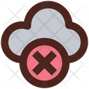 Cloud Cancel Icon