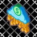 Cash Cloud Data Icon