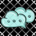 Cloud Chat Chat Bubbles Cloud Bubbles Icon