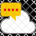 Cloud Chat Online Chat Cloud Message Icon
