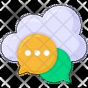 Cloud Conversation Cloud Chat Cloud Messaging Icon
