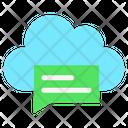 Cloud Chat Cloud Message Cloud Conversation Icon
