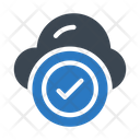 Cloud Check Complete Icon