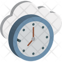Cloud Clock Icon