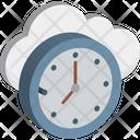 Cloud Clock Cloud Computing Schedule Icon