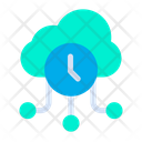 Cloud Clock Icon