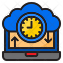 Cloud Clock Time Watch Icon