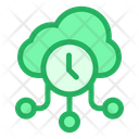 Cloud Clock Online Storage Icon