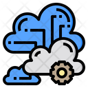 Cluster Cloud System Online Icon