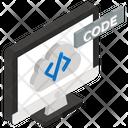Cloud Code Cloud Programming Cloud Software Icon