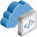 Cloud Computing Coding Icon