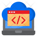 Cloud Coding Cloud Programming Code Icon