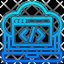 Cloud Coding Icon