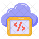 Cloud Programming Cloud Coding Cloud Development Icon