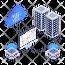 Database Network Cloud Coding Storage Coding Icon