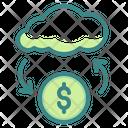 Cloud Coin Online Money Transfer Cloud Icon