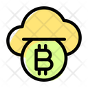 Cloud Coin Bitcoin Icon
