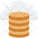 Cloud Coins Cloud Computing Coins Stack Icon