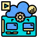 Comfortable Cloud System Online Icon