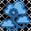 Cloud Communication Big Data Blockchain Icon