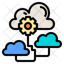 Cloud Communication Big Data Online Icon