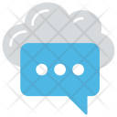 Cloud Communication Collaboration Icon