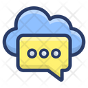 Cloud Communication Message Cloud Feedback Cloud Computing Icon