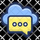 Cloud Communication Message Icon