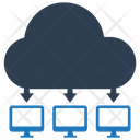 Cloud Computing Network Share Icon