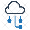Cloud Computing Hosting Web Development Icon