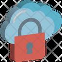 Cloud Computing Cloud Storage Lock Icon