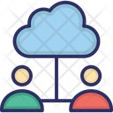 Cloud Computing Cloud Users Data Storage Icon