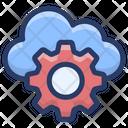 Cloud Computing Cloud Technology Cloud Setting Icon