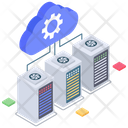 Cloud Computing Cloud Data Connection Cloud Hosting Icon
