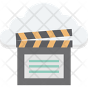Cloud Computing Clapper Multimedia Cloud Icon