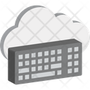 Cloud Computing Cloud Data Keyboard Icon