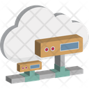 Cloud Computing Network Server Cloud Hosting Icon