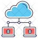 Cloud Storage Cloud Hosting Database Hosting Icon