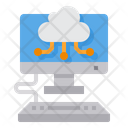 Cloud Computer Data Icon