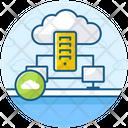 Cloud Datacenter Cloud Dataserver Dataserver Network Icon