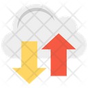 Cloud Computing Cloud Downloading Cloud Uploading Icon