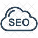 Seo Cloud Computing Server Icon
