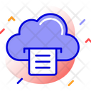 Cloud Computing Document File Sharing Icon