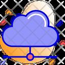 Sharing Cloud Computing Network Icon