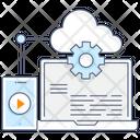 Web Hosting Web Computing Cloud Hosting Icon