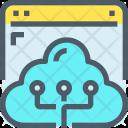 Cloud Storage Website Icon