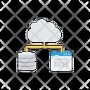 Cloud Computing Server Database Icon