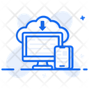 Cloud Computing Cloud Technology Cloud Downloading Icon