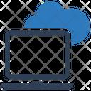 Cloud Laptop Computer Icon
